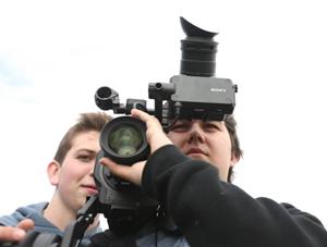 Braden behind camera
