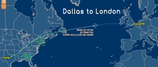 Dallas-to-London-Airport