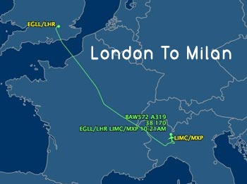 London-to-Milan-Airport