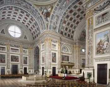 Interior of Mella Basilica di Sant' Andrea